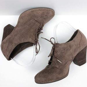 Dr. Scholl's Shoes - Dr. Scholl's Cheer Suede Heeled Oxford Booties